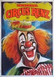 Universal Circus Renz Circus poster - Germany, 1987