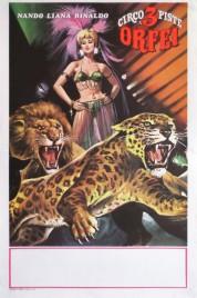 Nando, Liana, Rinaldo Orfei Circus poster - Italy, 1970