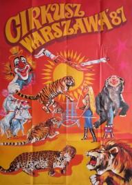 Cirkusz Warszawa Circus poster - Poland, 1987