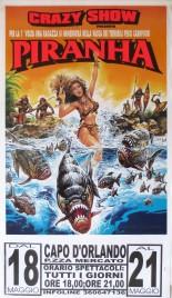 Crazy Show presenta Piranha Circus poster - Italy, 2002