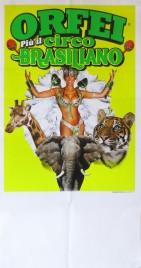 Orfei + Circo Brasiliano Circus poster - Italy, 0