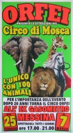 Orfei + Circo Di Mosca Circus poster - Italy, 0