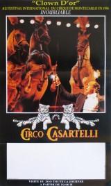 Circo Casartelli Circus poster - Italy, 1997
