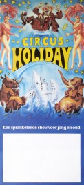 Circus Holiday Circus poster - Netherlands, 1987