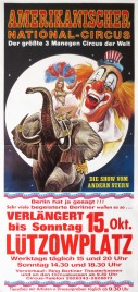 Amerikanischer National-Circus Circus poster - Italy, 1989