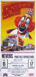 American Circus Circus poster - Italy, 1986