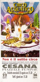 Circo Acquatico Splash Tour Circus poster - Italy, 2001