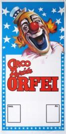 Circo Paride Orfei Circus poster - Italy, 1986