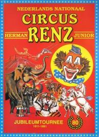 Circus Herman Renz Junior Circus poster - Netherlands, 1991