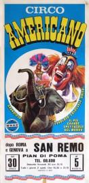 Circo Americano Circus poster - Italy, 1976