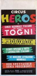 Circus Heros Circus poster - Italy, 1961