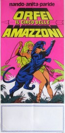 Nando, Anita, Paride - Orfei il Circo delle Amazzoni Circus poster - Italy, 1977