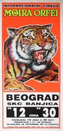 Internacionalni Cirkus Moira Orfei Circus poster - Italy, 1991