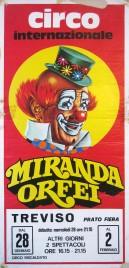 Circo Miranda Orfei Circus poster - Italy, 1987