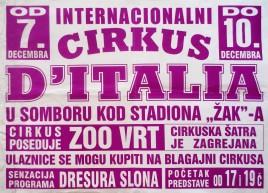 Cirkus D'Italia (Corona) Circus poster - Serbia, 0