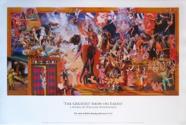 The Greatest Show On Earth (Mural) Circus poster - USA, 1990