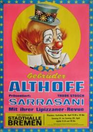 Gebrüder Althoff präsentiert Sarrasani Circus poster - Germany, 1976