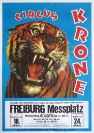 Circus Krone Circus poster - Germany, 1985