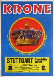 Circus Krone Circus poster - Germany, 1972