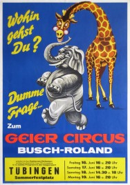Circus Busch-Roland Circus poster - Germany, 1972
