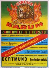 Circus Barum Circus poster - Germany, 1976