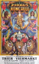 Zirkus Roncalli Circus poster - Germany, 1985