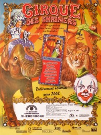 Cirque des Shriners Circus poster - Canada, 2002