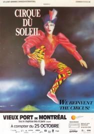 Cirque du Soleil - We Reinvent The Circus Circus poster - Canada, 1987