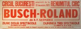 Circul Busch-Roland Circus poster - Germany, 1973
