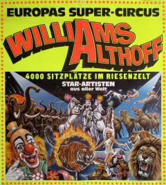 Circus Williams-Althoff Circus poster - Germany, 1978