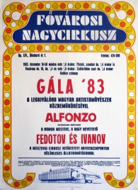 Gala '83 - Fovarosi Nagycirkusz Circus poster - Hungary, 1983