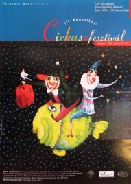 3. Nemzetközi Cirkuszfesztivál Circus poster - Hungary, 2000