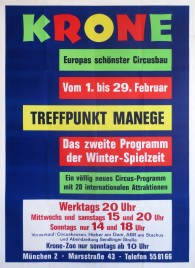 Circus Krone Circus poster - Germany, 1972