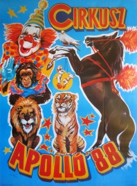 Cirkusz Apollo '88 Circus poster - Hungary, 1988