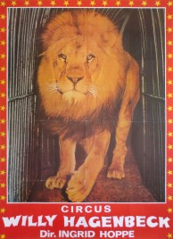 Circus Willy Hagenbeck Circus poster - Germany, 1976