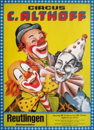 Circus Carl Althoff Circus poster - Germany, 1976