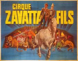 Cirque Zavatta Fils Circus poster - France, 1981