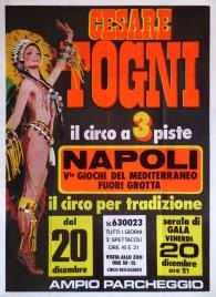 Circo Cesare Togni Circus poster - Italy, 1985