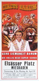 Circus Barum Circus poster - Germany, 1981