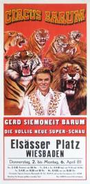 Circus Barum Circus poster - Germany, 1981