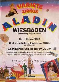 Variete Zirkus Aladin Circus poster - Germany, 1982