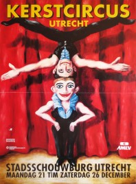 Kerstcircus Utrecht Circus poster - Netherlands, 1992
