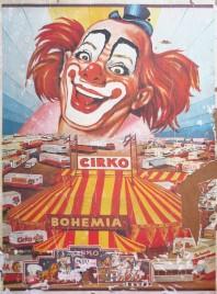 Cirkus Bohemia Circus poster - Serbia, 1983