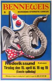 Cirkus Benneweis Circus poster - Denmark, 1986