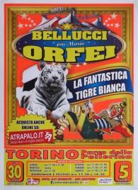Circo Bellucci + Mario Orfei Circus poster - Italy, 2013
