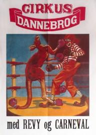 Cirkus Dannebrog Circus poster - Denmark, 0