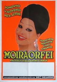 Circo Moira Orfei Circus poster - Italy, 2004