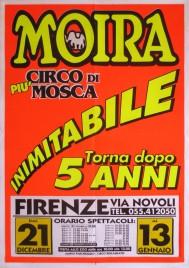 Circo Moira Orfei Circus poster - Italy, 2001