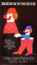 Cirkus Benneweis Circus poster - Denmark, 1971