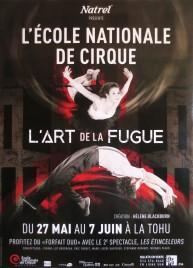 L'école Nationale de Cirque - L'art de la Fugue Circus poster - Canada, 2015